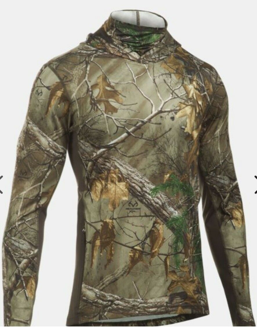 NEW Under Armour Apparel  Herren L Realtree Ap Xtra Turkey Ninja Hoodie Camo