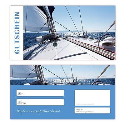 100 x Geschenkgutscheine (Segeln-643) TOP Sport Reisen Meer Urlaub Gutscheine
