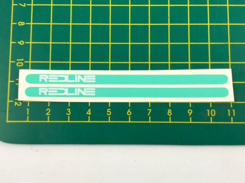 old school bmx decals stickers redline flight cranks white on mint