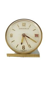 Caravelle-By-Bulova-Alarm-Clock-vintage-serviced-works-good