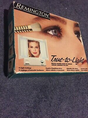 Vintage Remington True To Light 3 Way Lighted Make Up
