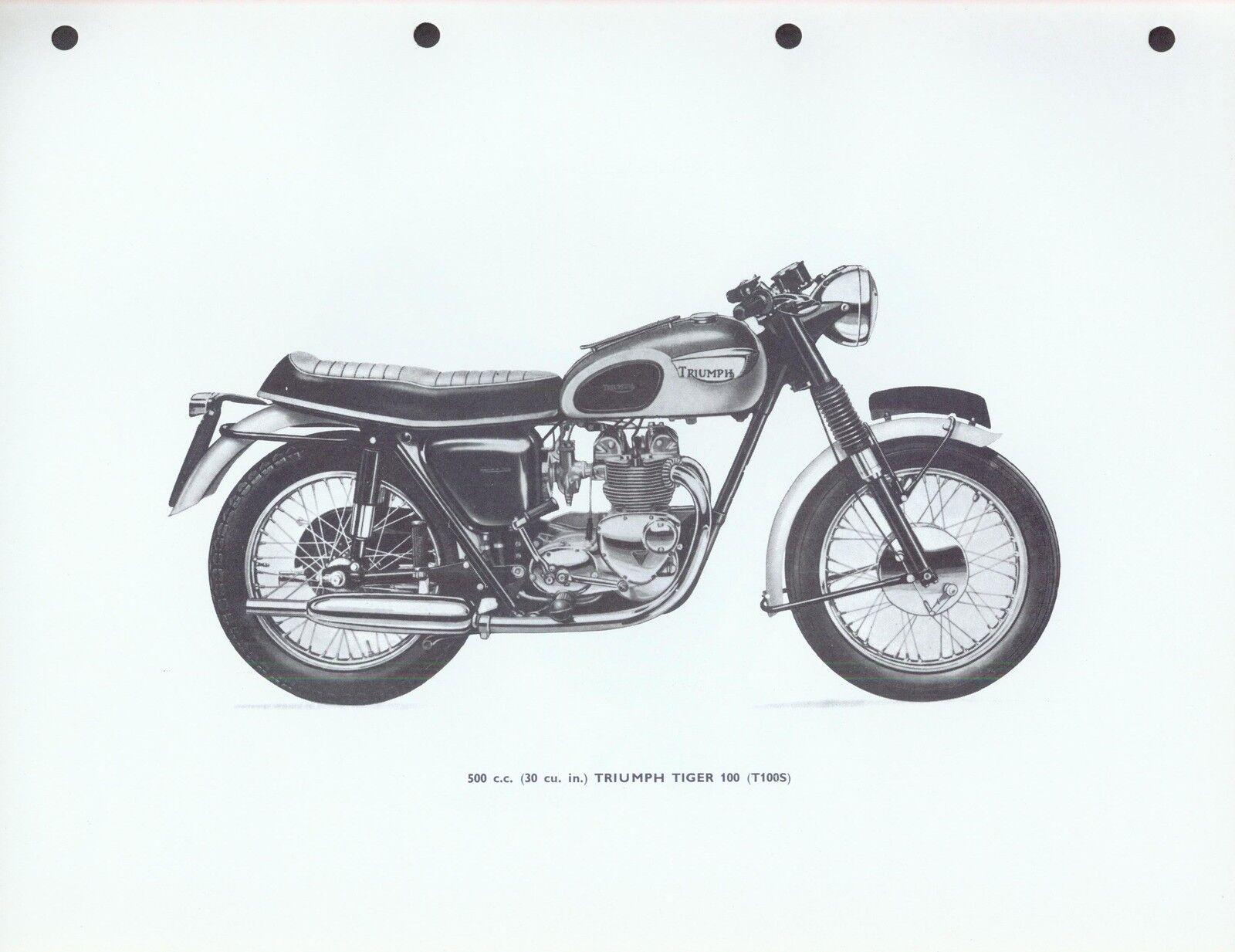 Triumph Workshop Manual 3ta Twenty One 5ta Speed Twin Tiger 90 T100  Ringbinder   eBay