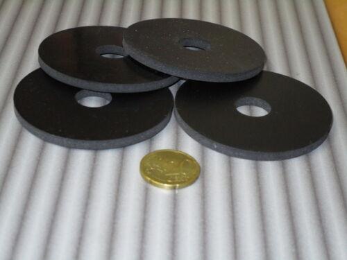 12 Stück Gummischeiben 15,0 x 65 x 4 mm schwarz Gummi Unterlegscheiben