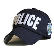 Blue/Black Police Officer Law Enforcement Cop Baseball Ball Cap Hat Caps Hats