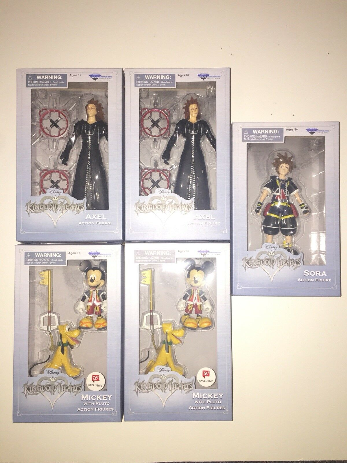 WalGrüns Exclusive Lot Of 6 Kingdom Hearts Action Figures. Brand New In Box.