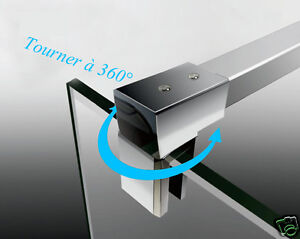 Barre de stabilisation horizontale paroi de douche 90 cm - Barre de stabilisation pour paroi de douche ...