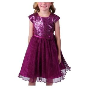 Speechless Big Girl/'s Floral Embroidered Lace Trim Crepe Dress-Size-10 or 12