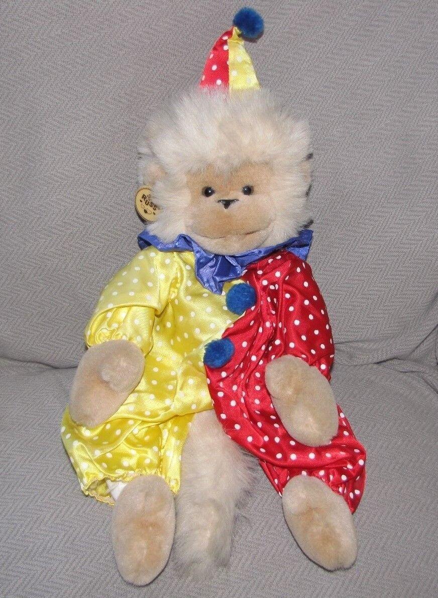 Vintage Russ CIRCUS MUNGO MONKEY Plush Stuffed Animal RARE & HTF CLOWN 18