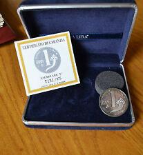 MEDAGLIA REPUBBLICA ITALIANA ULTIMA LIRA 2001 NUMISMATICA SUBALPINA