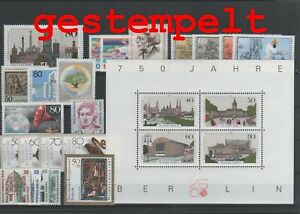 Germany-Berlin-vintage-yearset-1987-Postmarked-Used-complete-More-Sh-Shop
