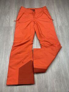 Arcteryx Kakeela GoreTex Snow Pants Women's Size 4 Orange Color Ski Snowboard