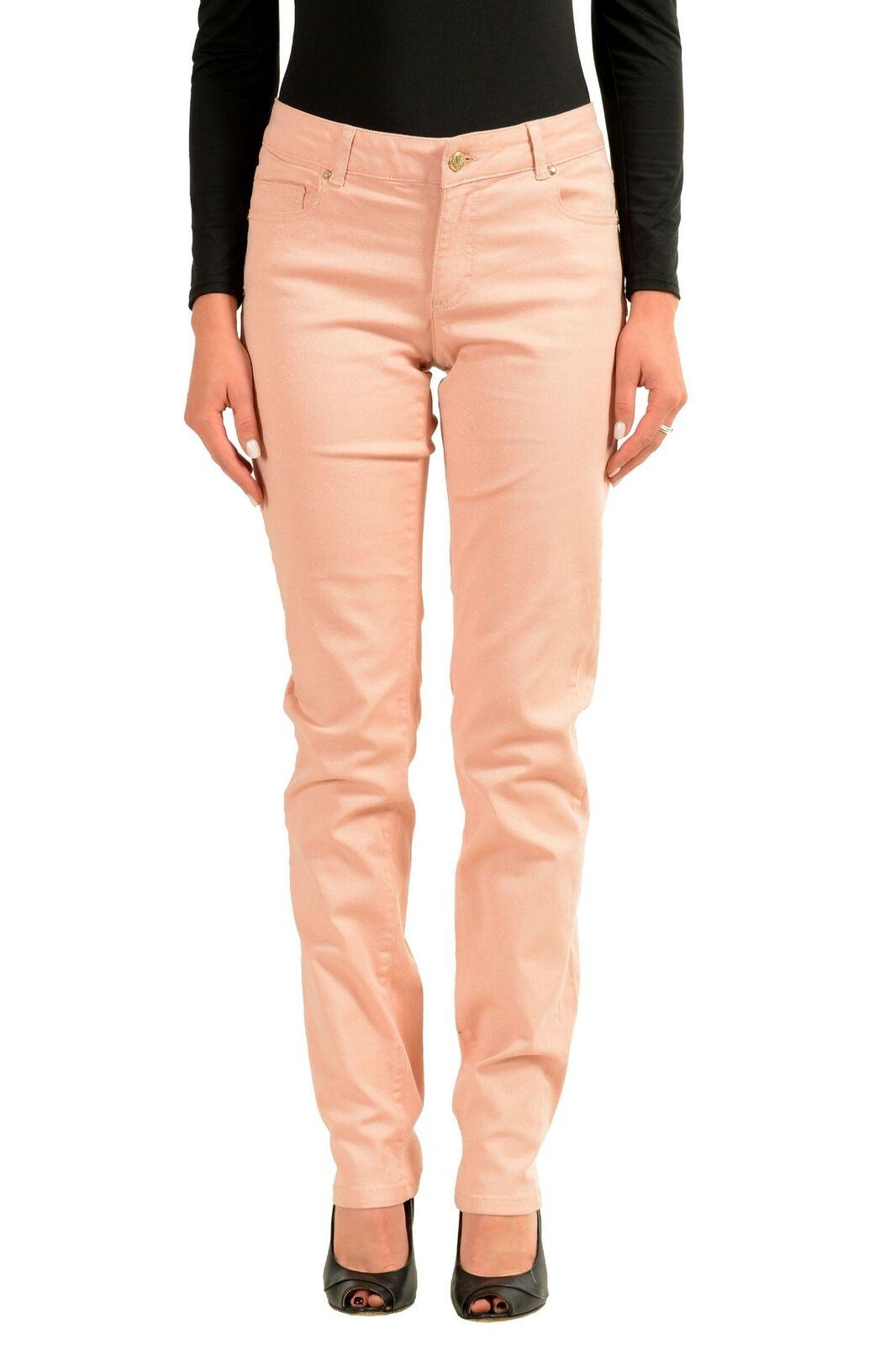 Versace Jeans Sparkling Pink Women's Skinny Jeans Sz 4 5 7