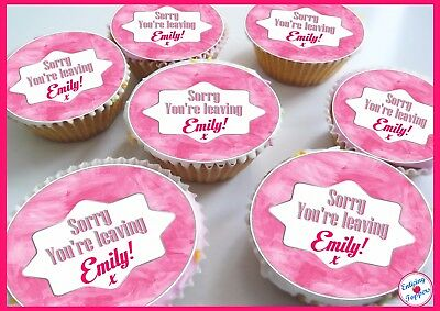 Tatty Teddy Birthday//Thank you Pink Edible Personalised Cupcake toppers
