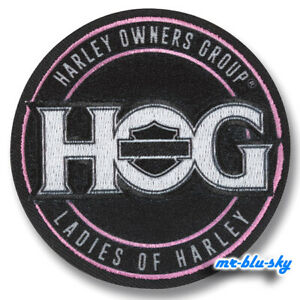 Ladies-of-Harley-L-O-H-Icon-Patch-Harley-Davidson-Owners-Group-HOG-H-O-G