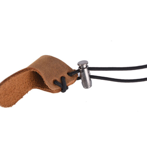 leather thumb finger guard ring adjustable protectors archery hunting browY s//