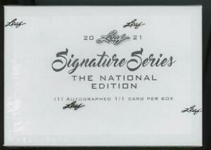2021 Leaf Signature Series Box National Edition 1/1 One of One Auto Autograph #1