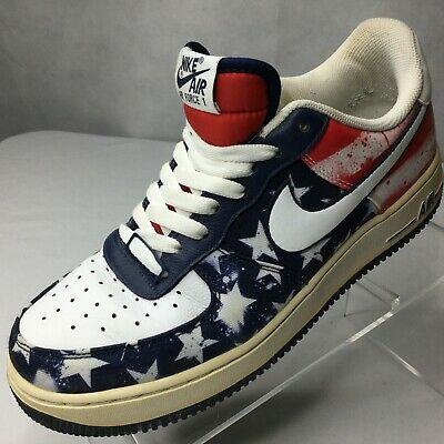 Nike Air Force 1 Low Independence Day Sneakers Sz 8 USA Flag Denim 488298 425 | eBay