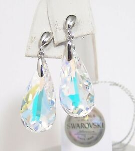 Aurore-Boreale-effects-Drop-Earrings-Verifiable-Swarovski-Crystals-Large