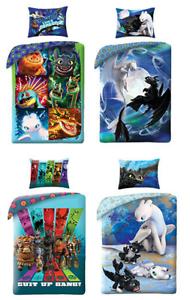 dreamworks drachenzähmen leicht gemacht dragons bettwäsche set kinde 135x200cm | ebay