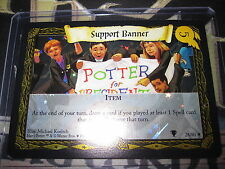 HARRY POTTER TCG QUIDDITCH CUP CARD SUPPORT BANNER 28/80 RARE FOIL EN MINT