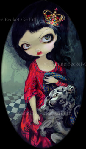 Jasmine Becket-Griffith SIGNED Red Queen White Queen set of 2 BIG art prints