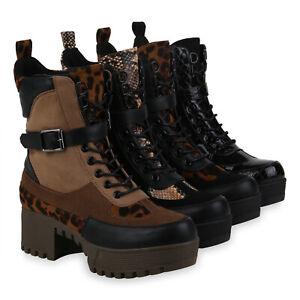 Kleidung & Accessoires Damen Stiefeletten Plateau Boots