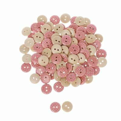 2 Holes Round Wood Buttons Clothing Sewing DIY Craft Scrapbook 15mm