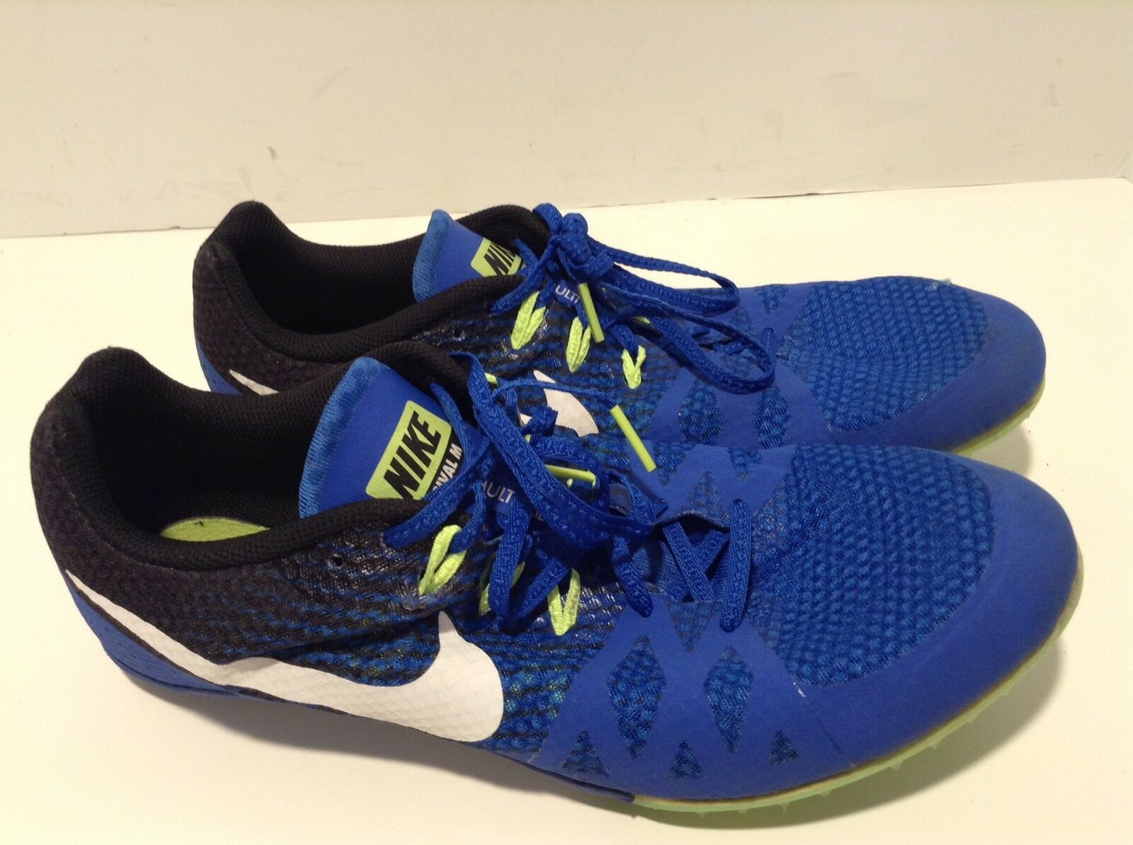 Nike Zoom Rival Track Spike Men Sz 12 Hyper Cobalt/White 806555-413  New shoes for men and women, limited time discount