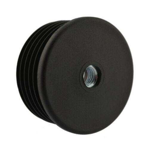 Gewindestopfen Ø 50mm M8 schwarz Einsteckbuchse Rundrohr Fusskappen Fussstopfen
