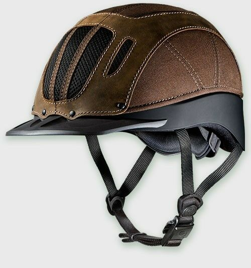 TROXEL SIERRA BROWN XL VENTED WESTERN RIDING SAFETY LOW PROFILE HORSE HELMET