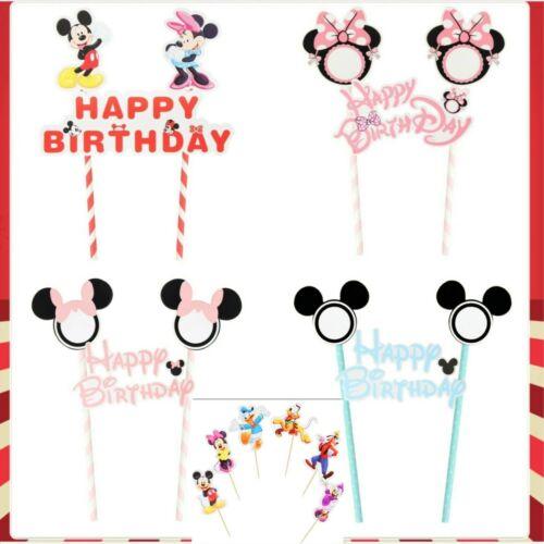 Cupcake Topper Decoration Disney mickey /& minnie mouse happy birthday big Cake