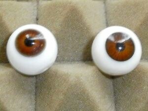 10 mm Brown Antique Handblown German Glass Eyes    E28