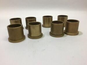 """Brass Bushings 1"""" ID 1-3//8""""OD 7//8"""" Long Lot Of 5 Each"""