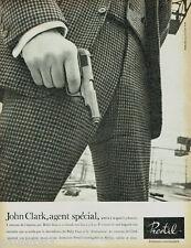 PUBLICITE ADVERTISING 115  1965  PRESTIL fermetures éclair JOHN CLARK agent spéc