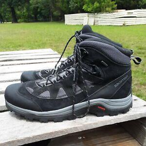 Salomon Authentic LTR GTX 404643 Black Grey Hiking Shoes Boots Men's Size 13