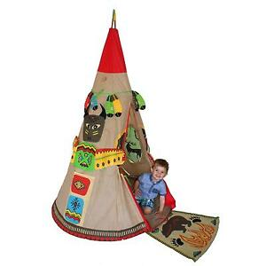 Image is loading Red-Indian-Teepee-Wigwam-Childrens-Kids-Outdoor-Indoor-  sc 1 st  eBay & Red Indian Teepee Wigwam Childrens/Kids Outdoor/Indoor Play-Tent ...