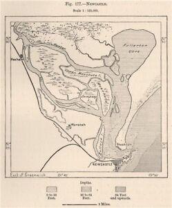 Australia Map Newcastle.Details About Newcastle Australia 1885 Old Antique Vintage Map Plan Chart