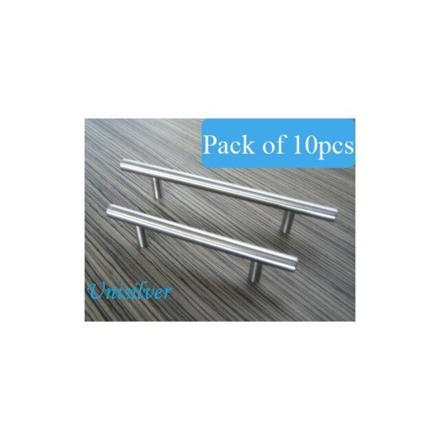 "6"" Brushed / Satin Nickel Cabinet Hardware Bar Handle (Pack of 10pcs)"