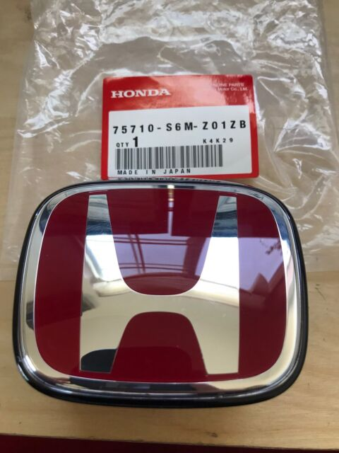 Redh Rear Emblem For Acura Integra RSX Dc And Honda FIT - Red acura emblem