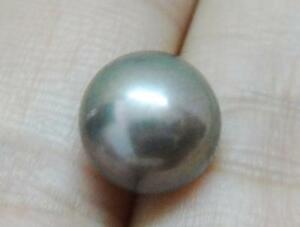 genuine south sea round single pearl half drilled 8.8mm violet gray loose aaa+