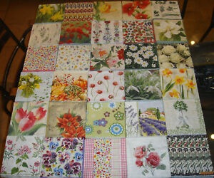 30 different assorted floral flower paper napkins new 686423563492 image is loading 30 different assorted floral flower paper napkins new mightylinksfo