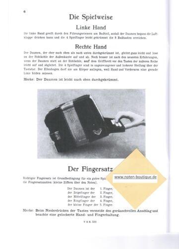 Neue Holzschuh Schule 1 ANFÄNGER diat diatonische Handharmonika Noten