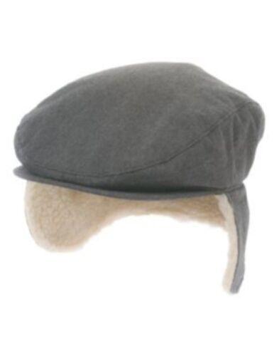 GYMBOREE POLAR BEAR LODGE GRAY FUR LINED DRIVING CAP HAT 3 4 5 6 7 8 10 NWT
