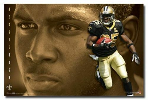 FOOTBALL POSTER New Orleans Saints Reggie Bush