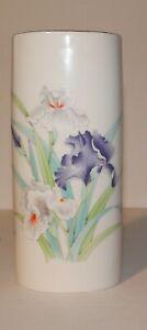 """Vintage 1970s Iris Bouquet OTAGIRI Japan Porcelain 8""""  Vase"""