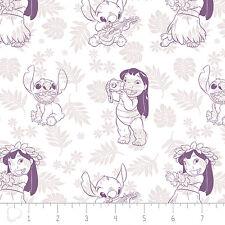 Disney Lilo & Stitch Hula Toile Wildberry Purple 100% Cotton fabric by the yard