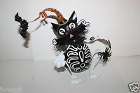 Pier 1 Imports Whimsical Ceramic 9 Halloween Black Cat Figure Candle Holder