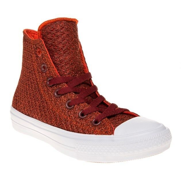 New Damenschuhe Damenschuhe New Converse ROT Chuck Taylor All Star II High Textile Trainers Canvas 0bcac9