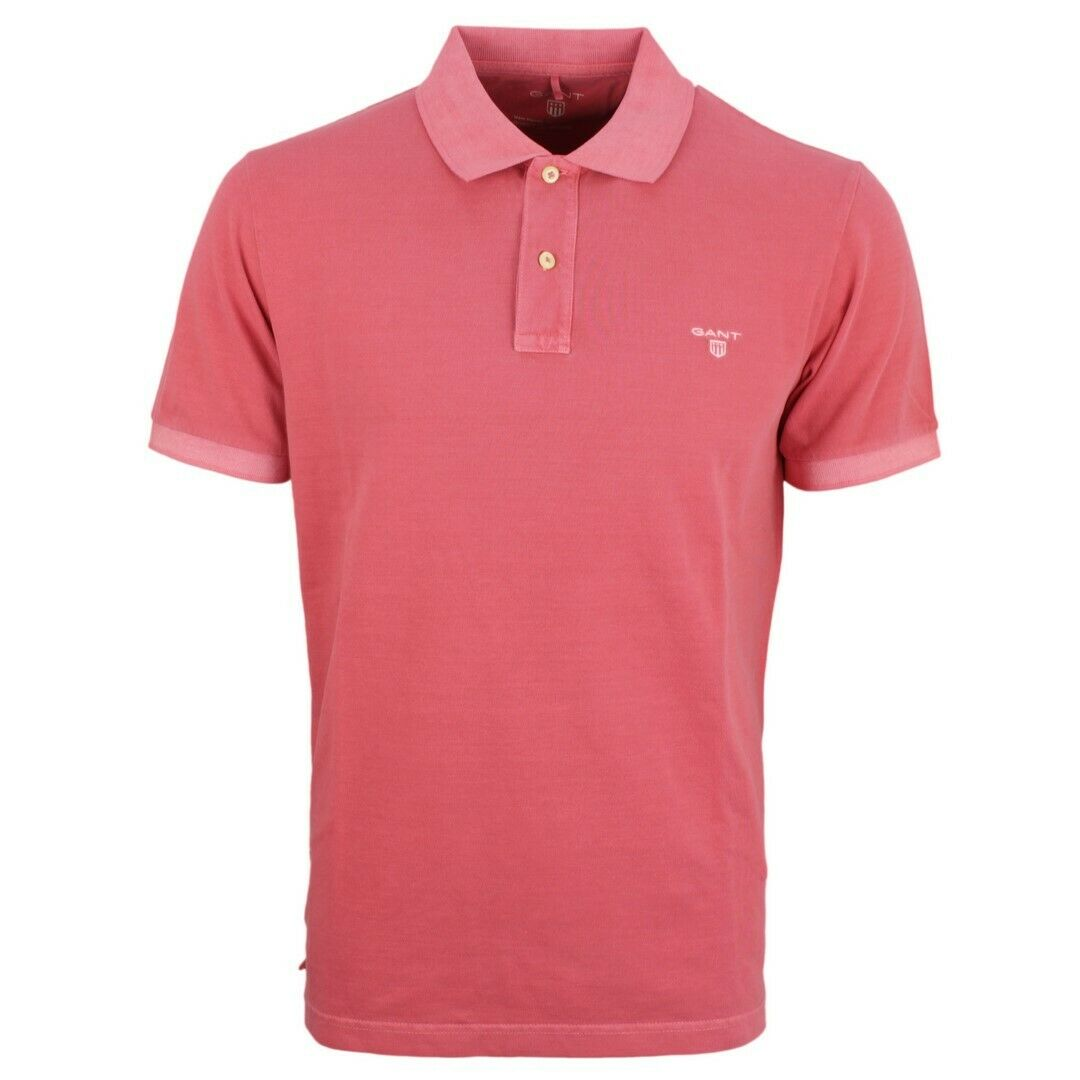 Gant Men's Polo Shirt Sunbleached Pique Plain Red 2052028 640