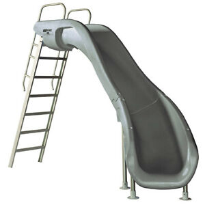 S.R. Smith 610-209-58120 Rogue2 Slide Right Curve Gray 8' Ft for Swimming Pools